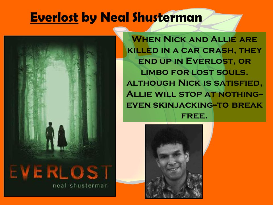 When Nick and Allie are killed in a car crash, they end up in Everlost, or limbo for lost souls.