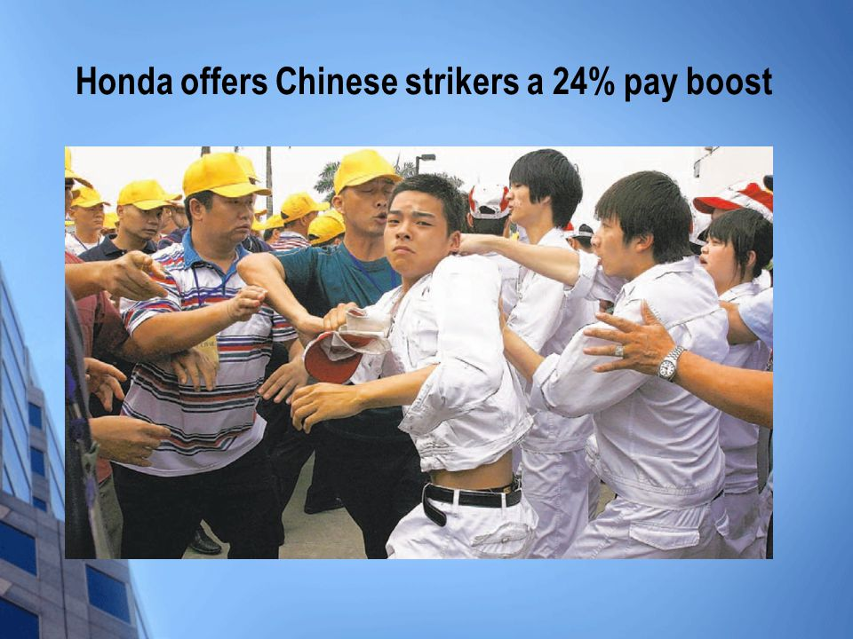 Honda offers Chinese strikers a 24% pay boost