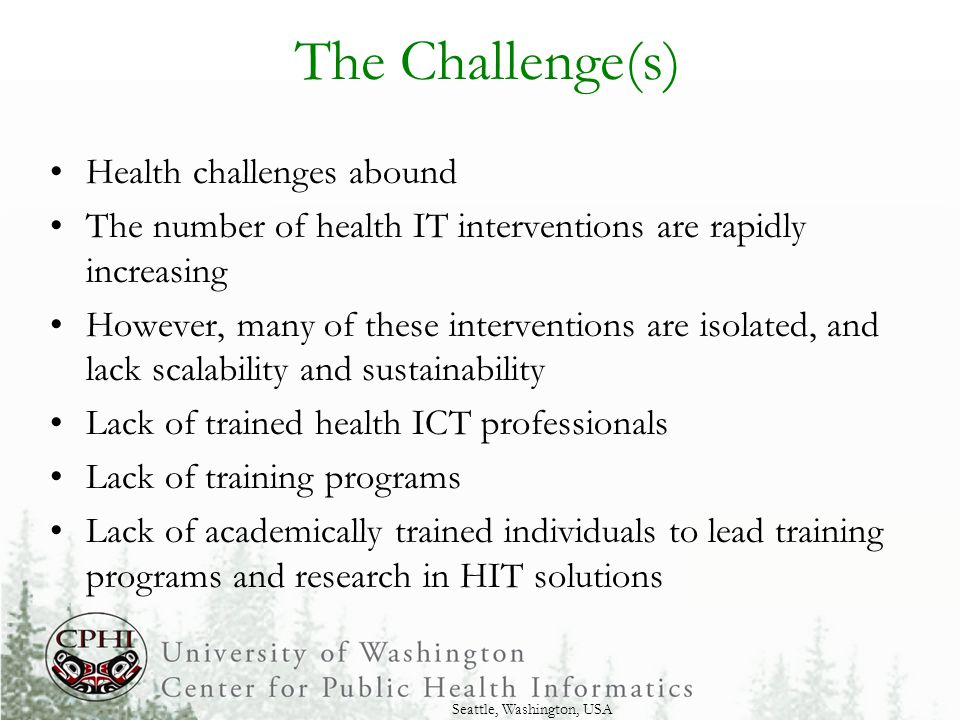Opportunity: Academic Foundations for ICT Progress WAHIFP has the opportunity to help initiate the development of an academic training and research program in health informatics in Ghana The conference presents an opportunity to identify strategies for moving forward With the support of the global coalition of individuals, organizations and university programs contributing to the WAHIFP conference, a strong health informatics program can be built in Ghana to support improved health systems throughout the country and beyond.