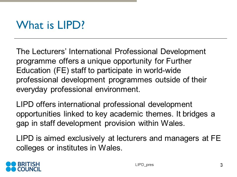 LIPD_pres 3 What is LIPD.