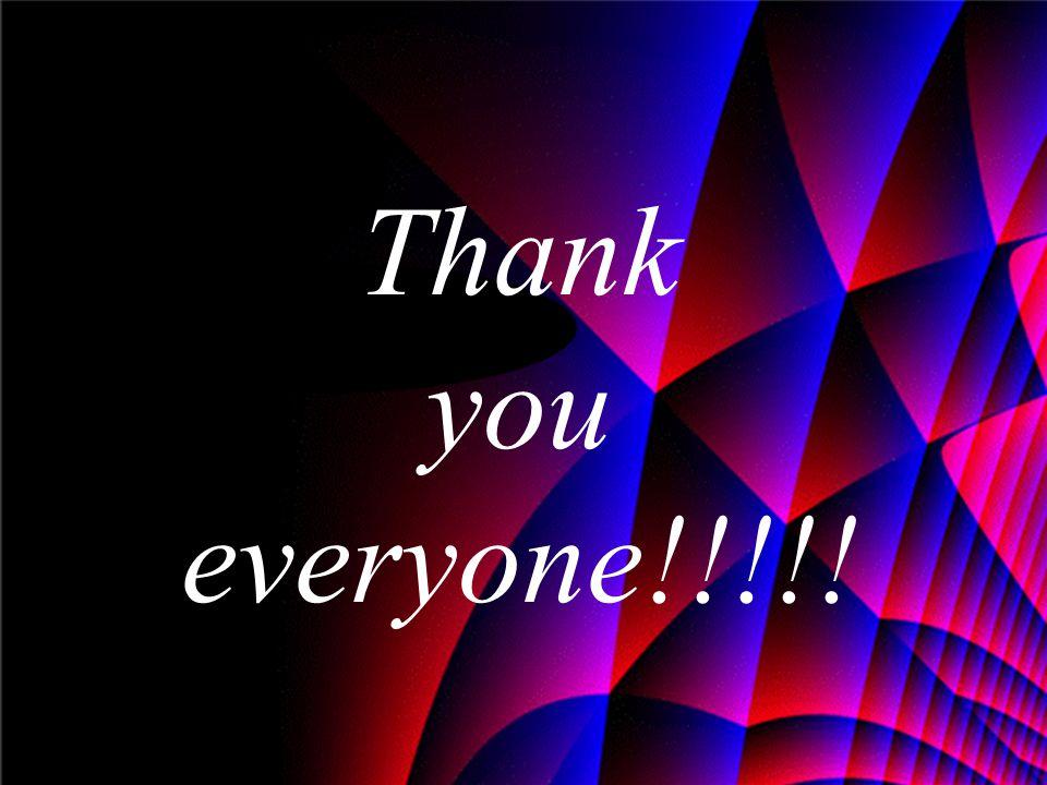 Thank you everyone!!!!!
