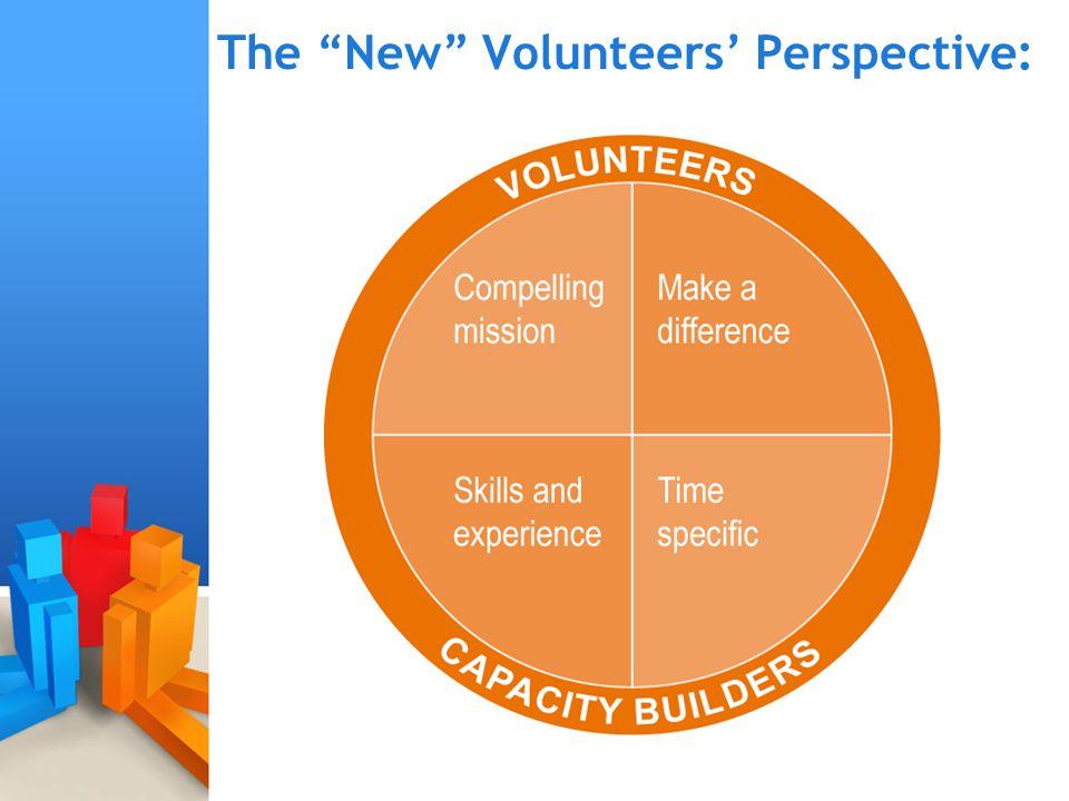 """The """"New"""" Volunteers' Perspective:"""