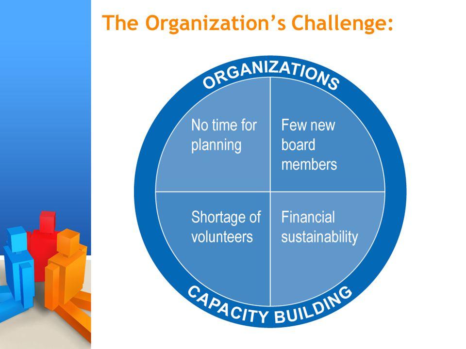 The Organization's Challenge: