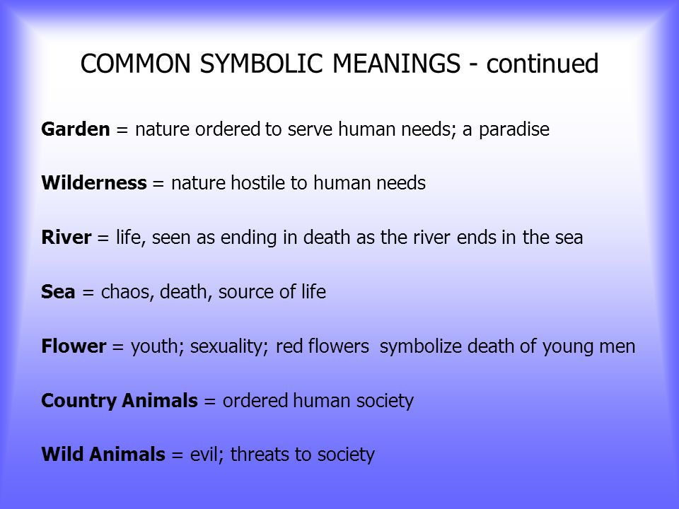 COMMON SYMBOLIC MEANINGS Crescent Moons = four seasons Eagle = strength, courage, clarity of vision Circle (sphere) = wholeness, unity Raindrops = water, great abundance, fertility Stars = good fortune, hope, love, fertility, harmony