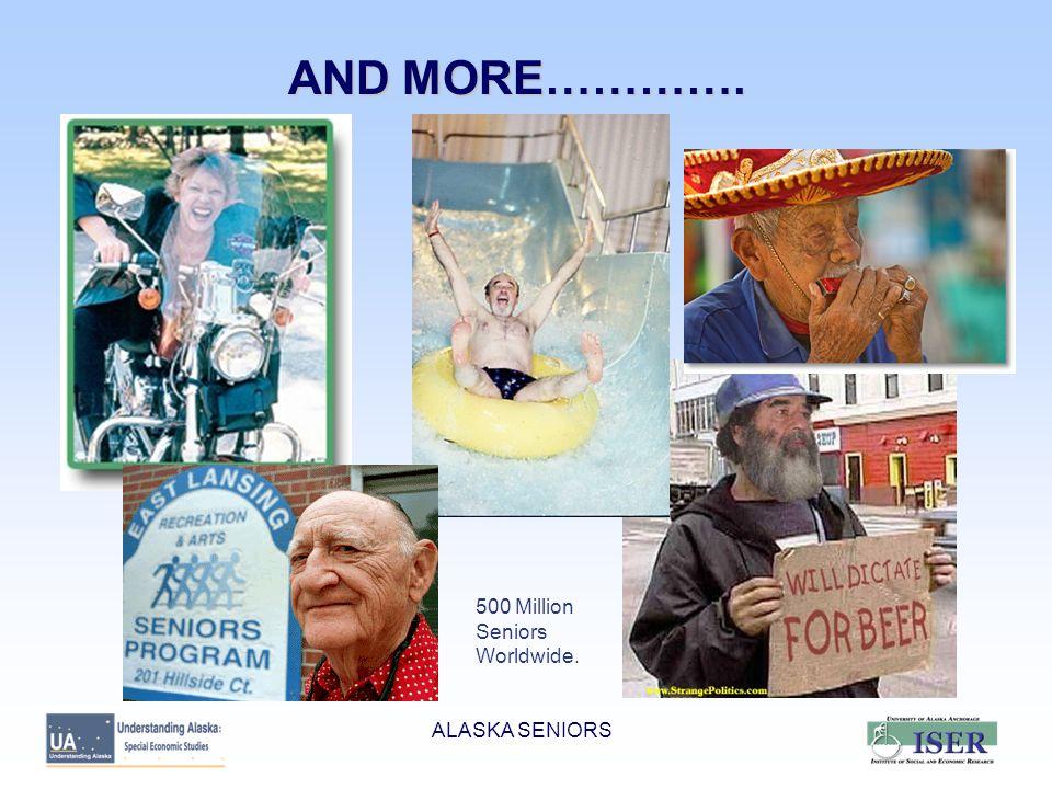 ALASKA SENIORS SENIORS ARE 5.5% OF POPULATION BUT IN 12% OF HH