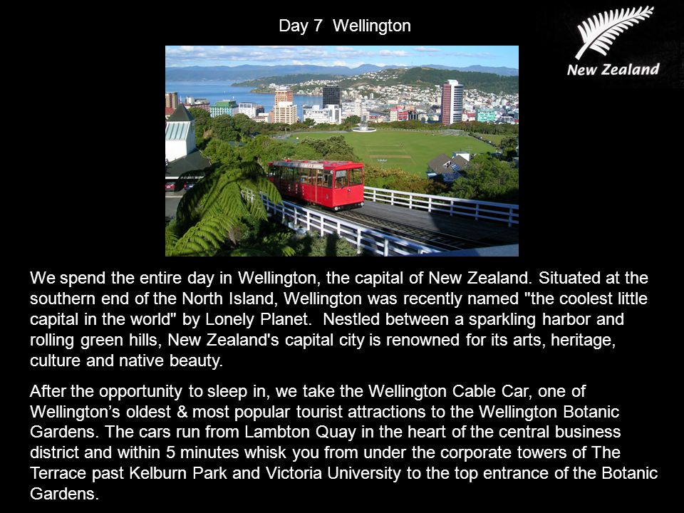 We spend the entire day in Wellington, the capital of New Zealand.