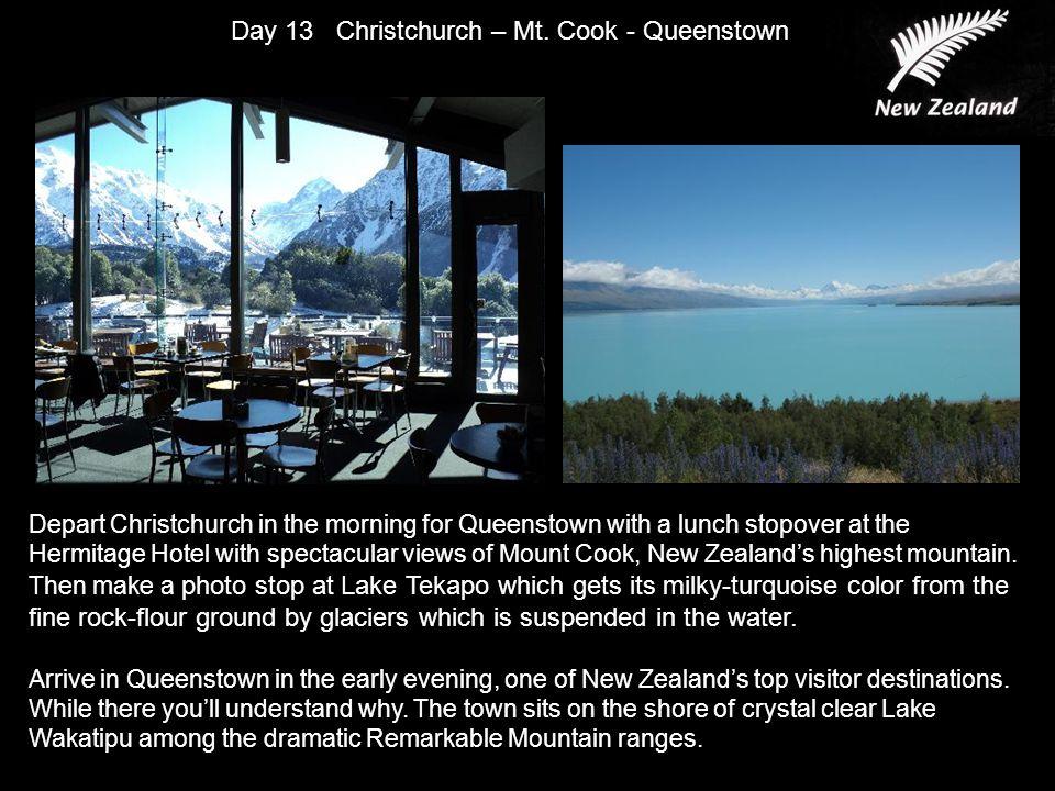 Day 13 Christchurch – Mt.