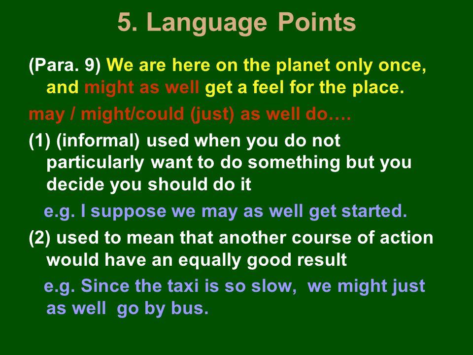 5. Language Points (Para.