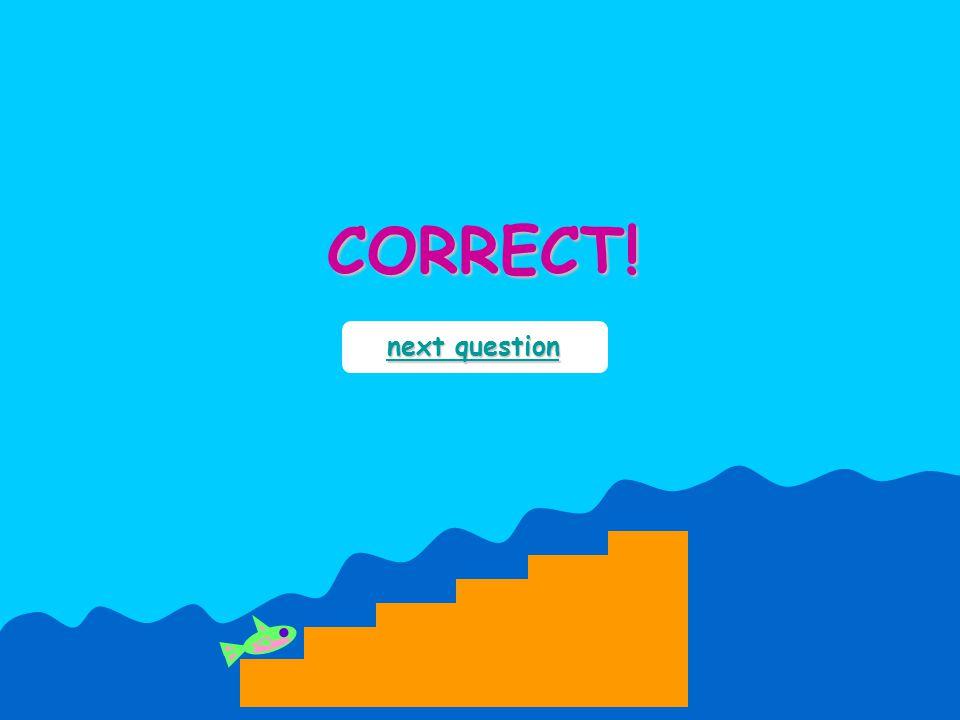 CORRECT! next question next question