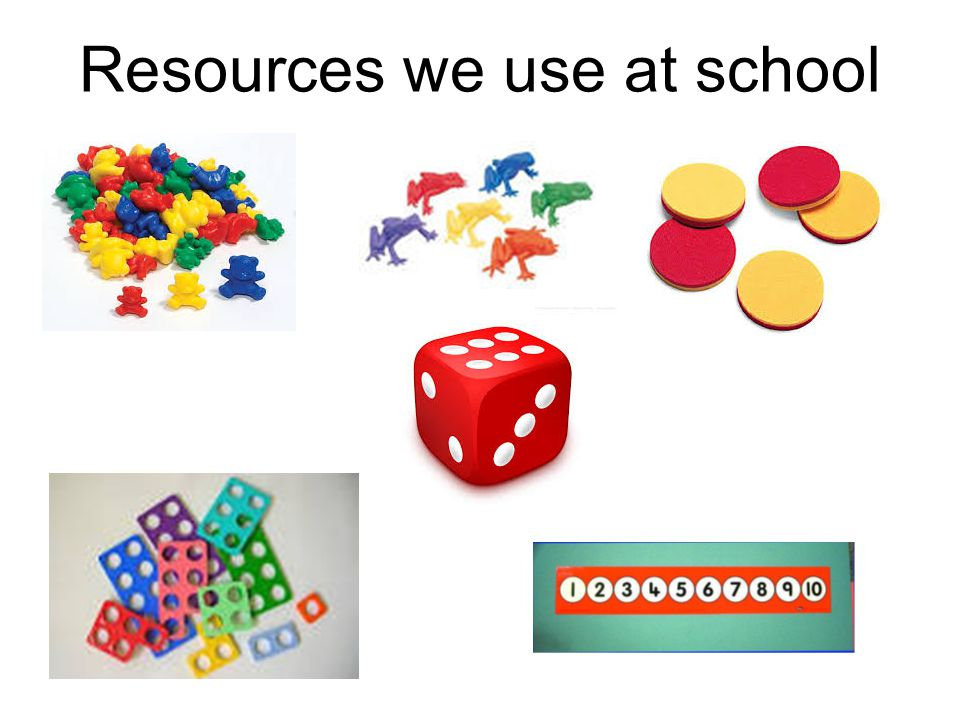 Resources we use at school