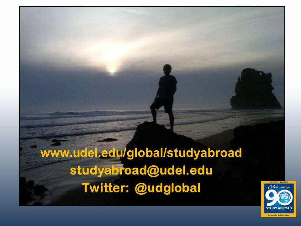 www.udel.edu/global/studyabroad studyabroad@udel.edu Twitter: @udglobal