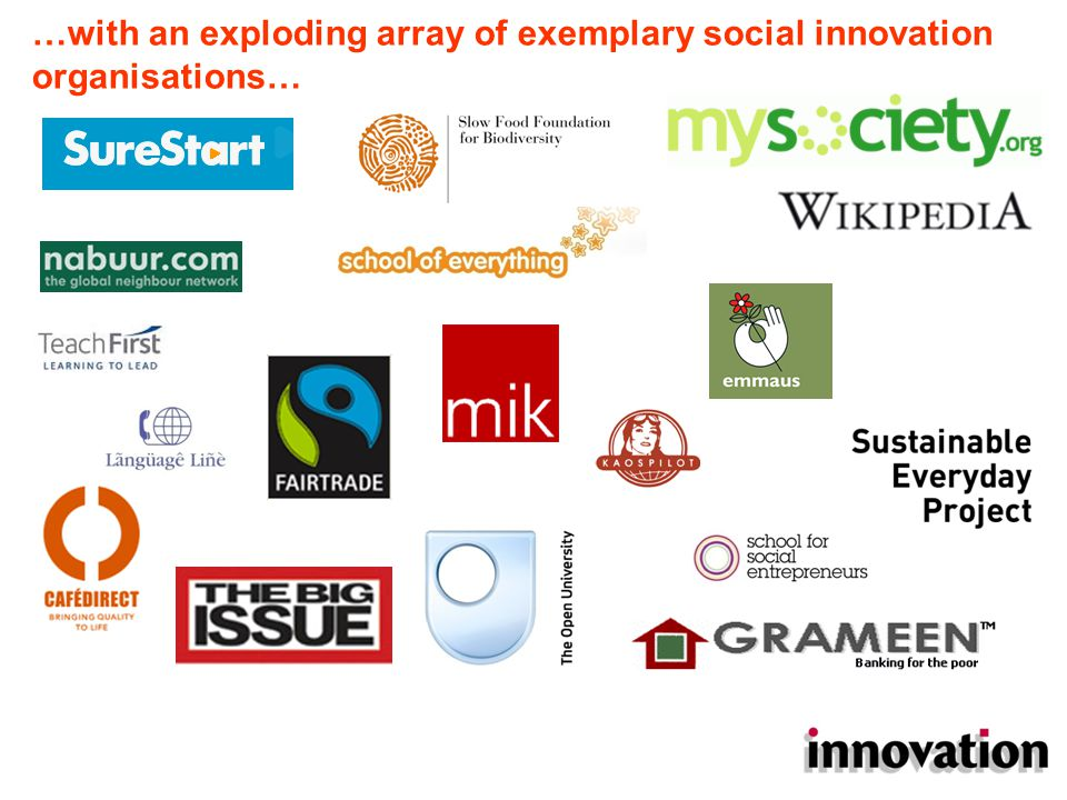 …and an inspiring catalogue of social innovation practice