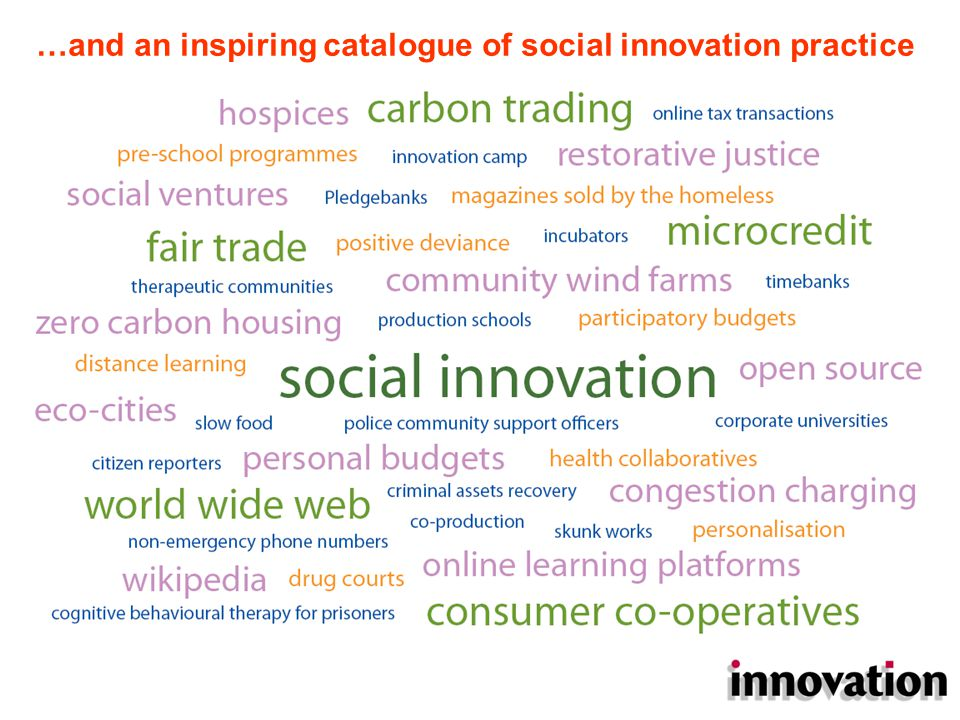 Idea set #1: Von Hippel, Leadbeater, Shirky profound changes have arisen in business and social enterprises because ICT enables mass collaboration, and self organisation on a massive scale users are developing products/services with companies freely and open-sourced: democratised innovation a different model of social change: transformation by many small steps