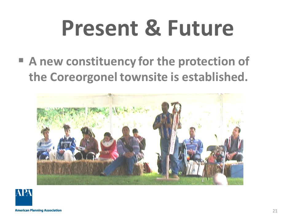 Present & Future  A new constituency for the protection of the Coreorgonel townsite is established.