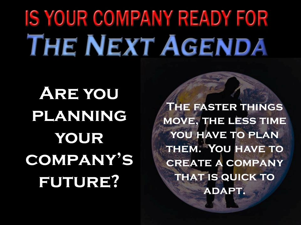 Are you planning your company's future.