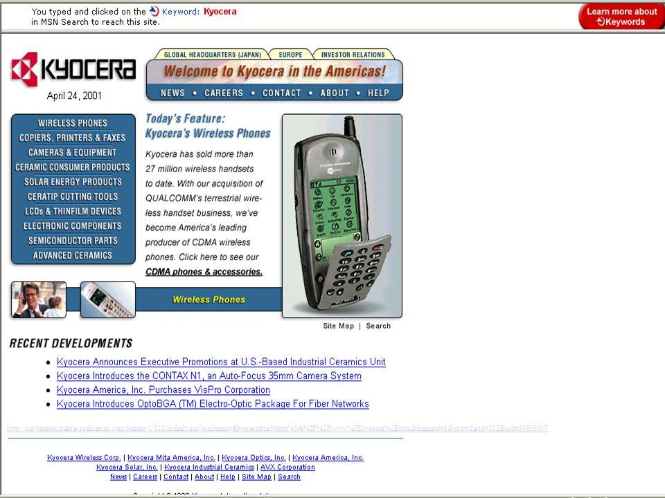 http://navigation.helper.realnames.com/framer/1/112/default.asp realname=Kyocera&url=http%3A%2F%2Fwww%2Ekyocera%2Ecom&frameid=1&providerid=112&uid=30003007