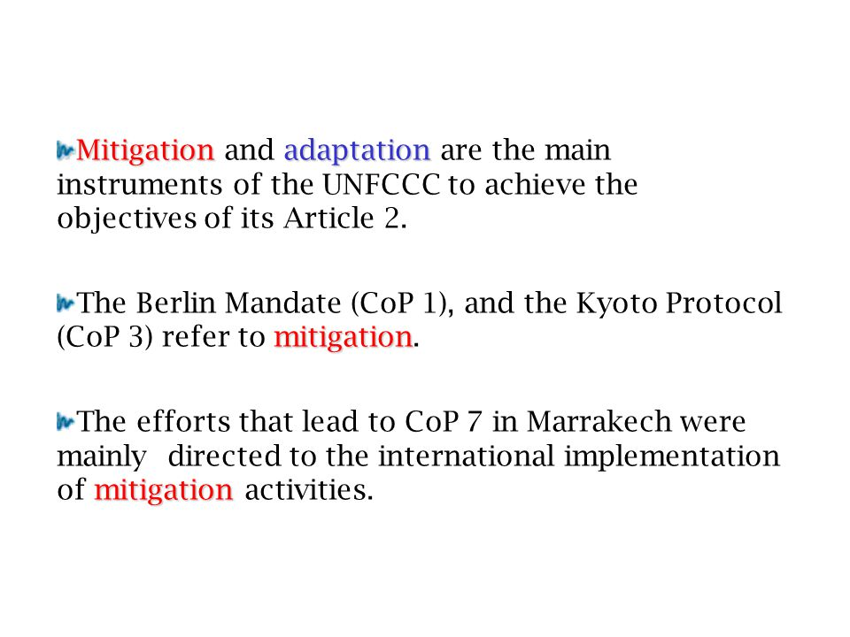 adaptation The global scope of adaptation was progressively acknowledged since the IPCC's TAR was published.