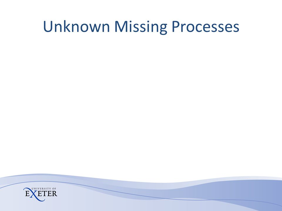 Unknown Missing Processes