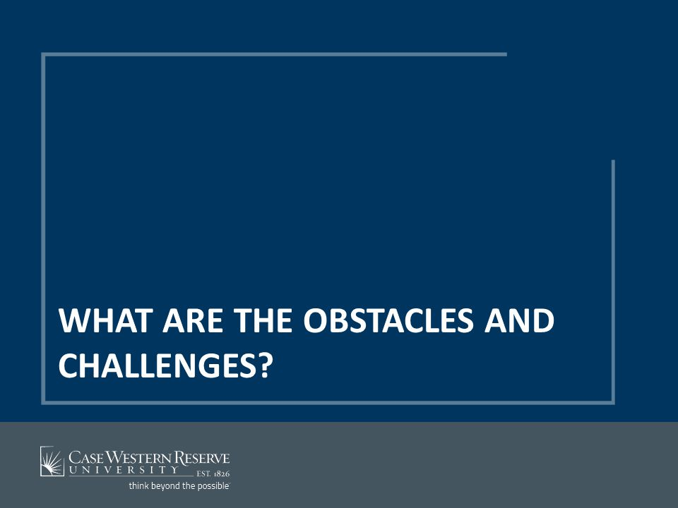 WHAT ARE THE OBSTACLES AND CHALLENGES