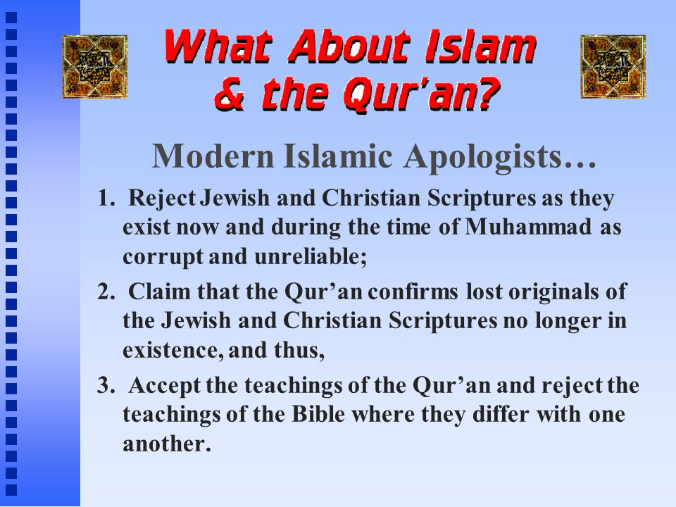 I.The Qur'an's Dependence Upon the Bible.. The Qur'an vs.