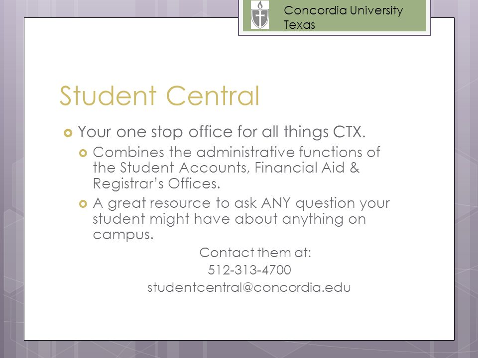 Student Central  Your one stop office for all things CTX.