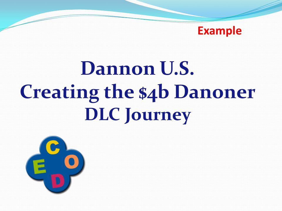 Dannon U.S. Creating the $4b Danoner DLC Journey Example