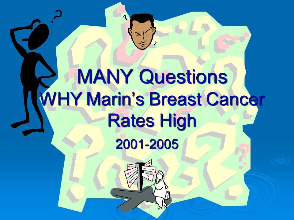 MANY Questions WHY Marin's Breast Cancer Rates High 2001-2005