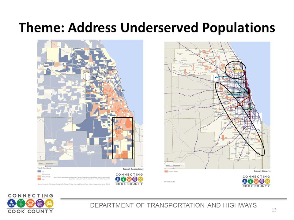 Theme: Address Underserved Populations 13 DEPARTMENT OF TRANSPORTATION AND HIGHWAYS