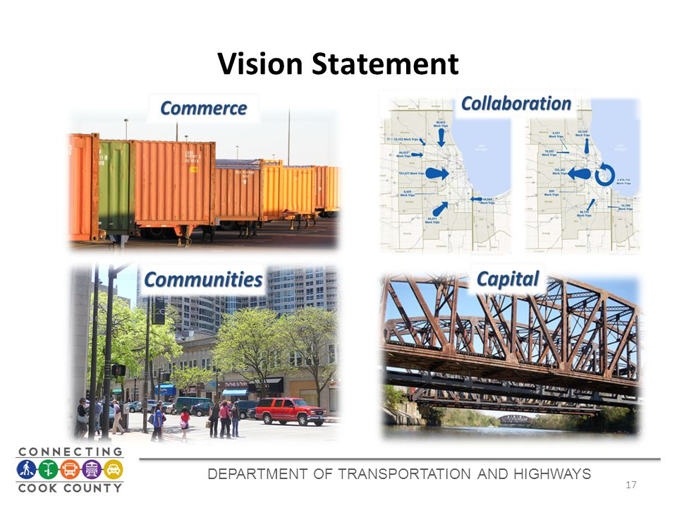 Vision Statement 17 DEPARTMENT OF TRANSPORTATION AND HIGHWAYS