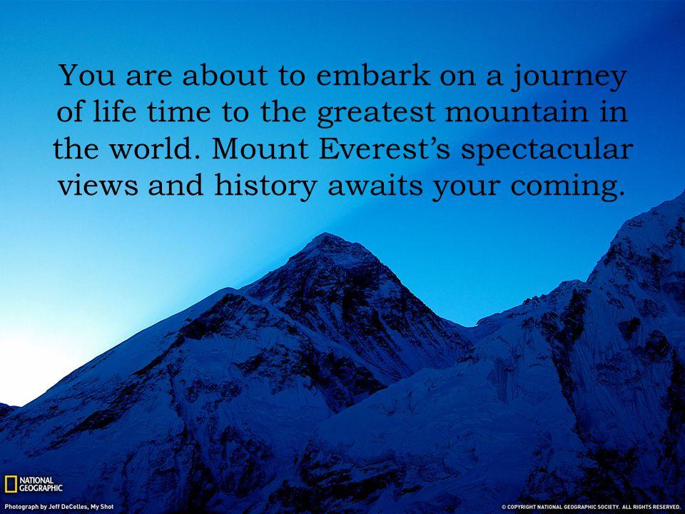 Task One The journey begins.Watch an inspirational video of a man climbing Mount Everest.