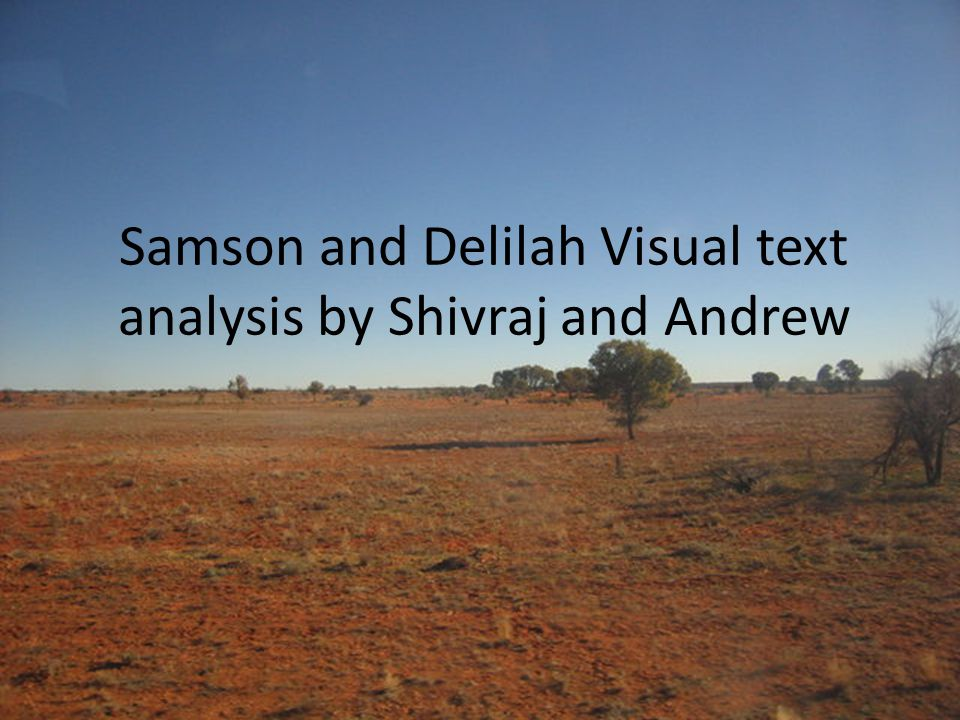 Samson and Delilah Visual text analysis by Shivraj and Andrew
