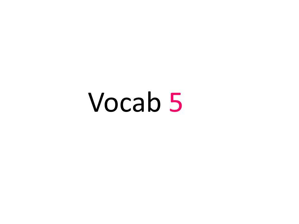 Vocab 5