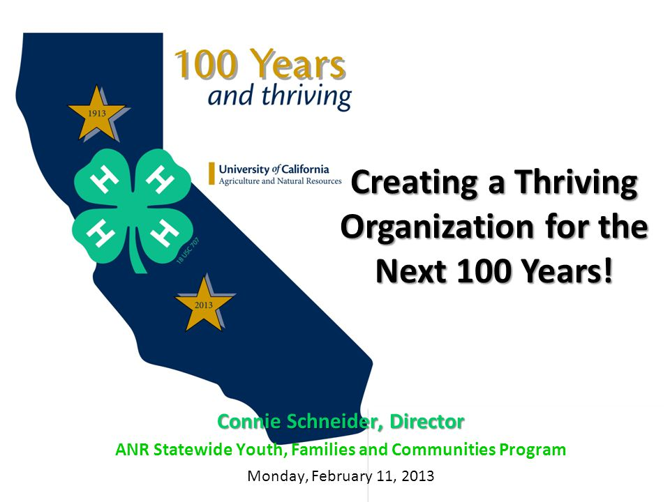 Creating a Thriving Organization for the Next 100 Years.
