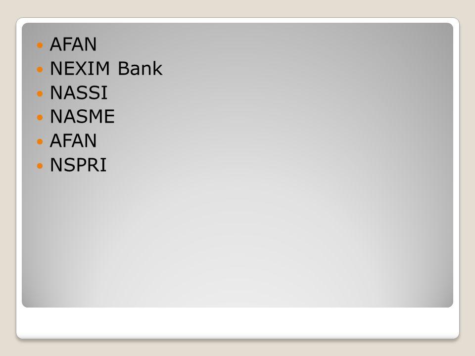 AFAN NEXIM Bank NASSI NASME AFAN NSPRI