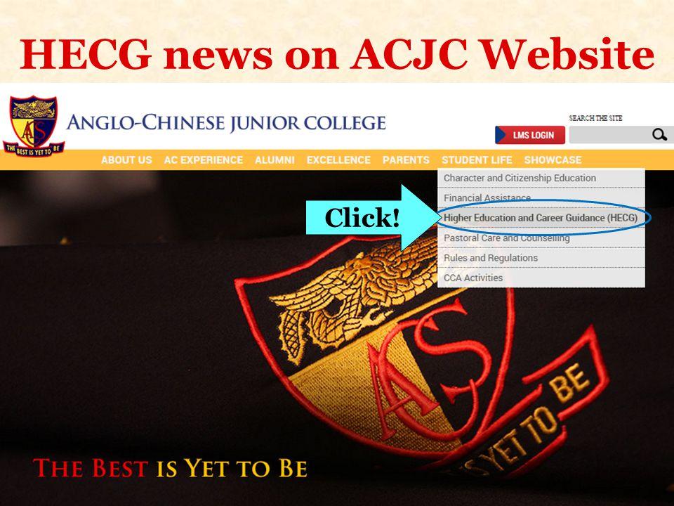 HECG news on ACJC Website
