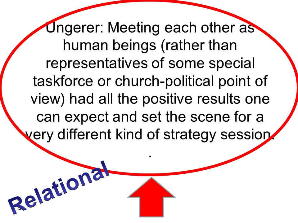 Ungerer: Meeting each other as human beings (rather than representatives of some special taskforce or church-political point of view) had all the posi