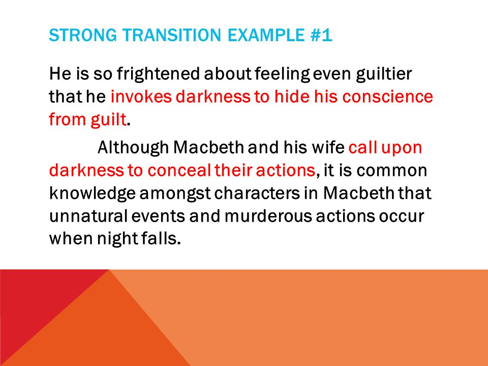 writers workshop macbeth literary analysis essay feedback ppt  8 strong transition
