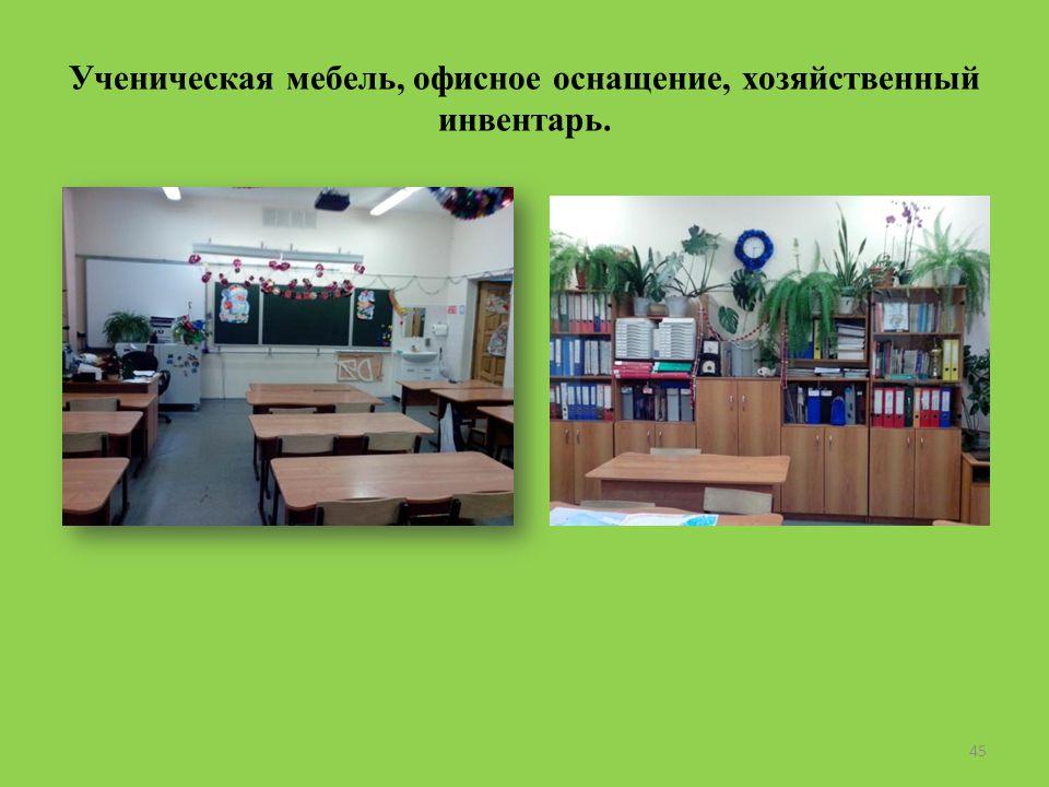 Ученическая мебель, офисное оснащение, хозяйственный инвентарь. 45