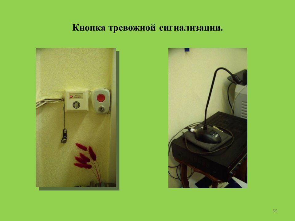 Кнопка тревожной сигнализации. 55