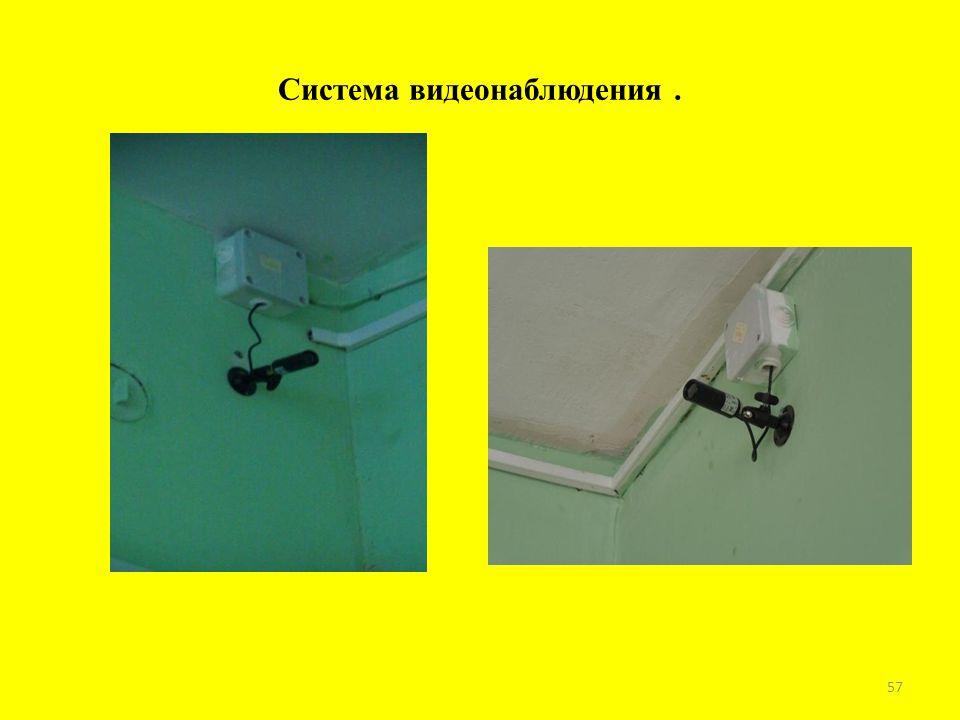 Система видеонаблюдения. 57