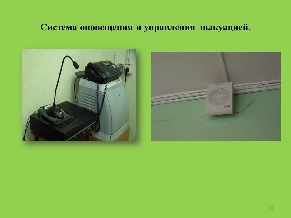 Система оповещения и управления эвакуацией. 60