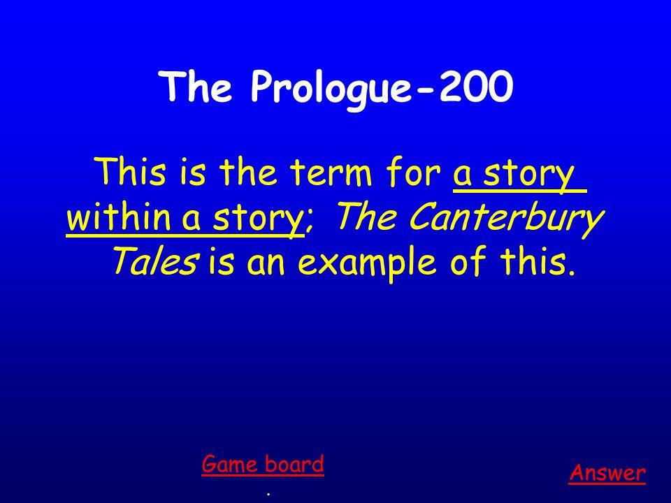 The Prologue-100 Answer.
