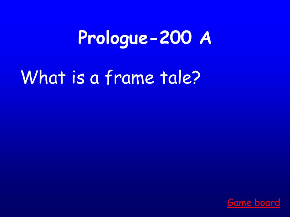 Prologue-100 A What is a pilgrimage Game board