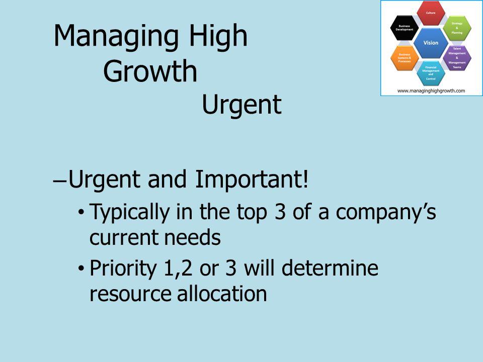 Urgent – Urgent and Important.
