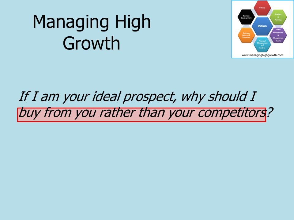 Putting Together Your Value Proposition Managing High Growth