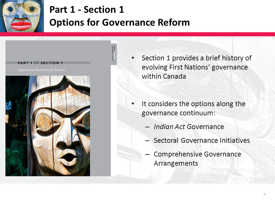 20 Part 1 - Section 3.15 Health Background Depending on context, federal, provincial or First Nation authority applies Collectively, providing health services is now the single largest budgetary expenditure for all governments Indian Act Governance Section 73, 81(1) A number of First Nations have enacted health related bylaws but none displace federal or provincial authority Sectoral Governance Initiatives Transformative Change Accord: First Nations Health Plan BC Tripartite Framework Agreement on First Nation Health Governance Moving to establish a BC First Nations Health Authority Comprehensive Governance Arrangements While some self-government agreements include provisions for jurisdiction over health services, no First Nations currently exercise broad jurisdictional powers over these services.