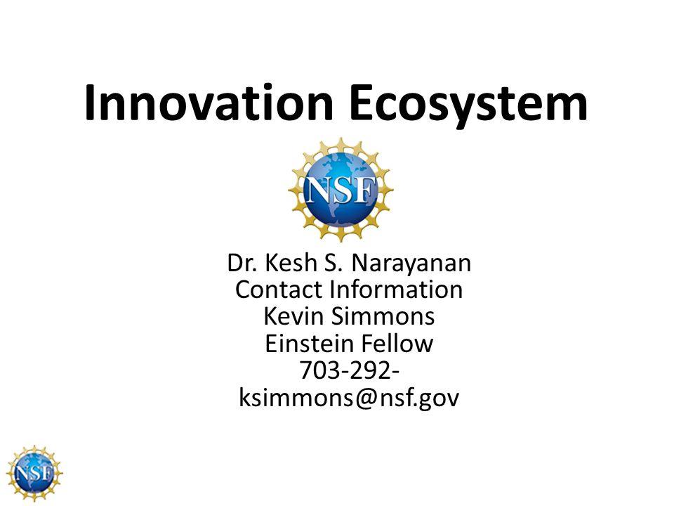 Innovation Ecosystem Dr. Kesh S.