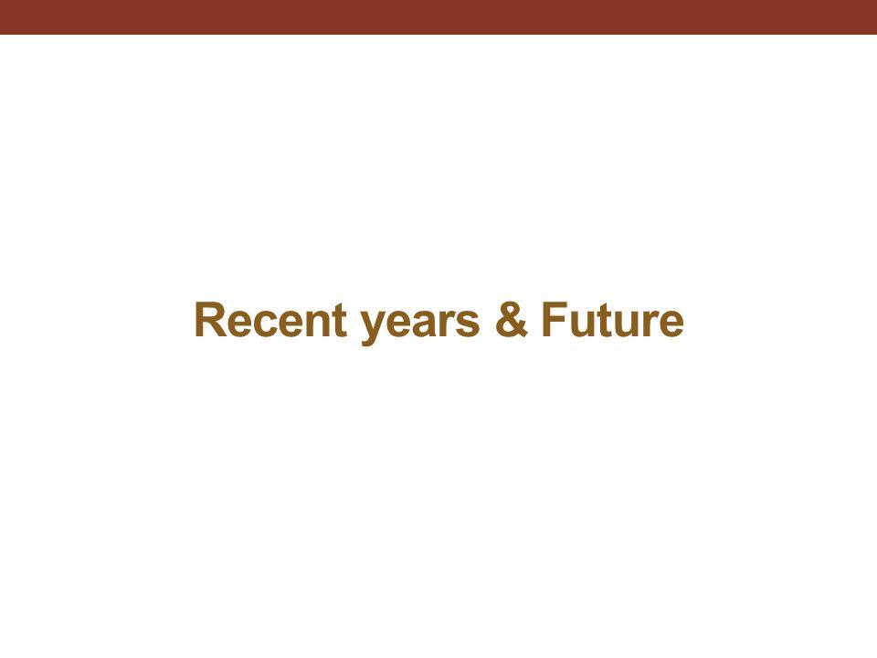Recent years & Future