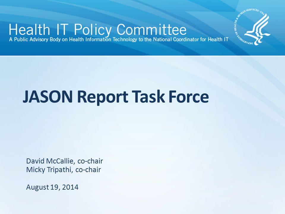 Recommendation Framework JASON charge JASON scope JASON findings JASON architecture core principles JASON recommendations 11