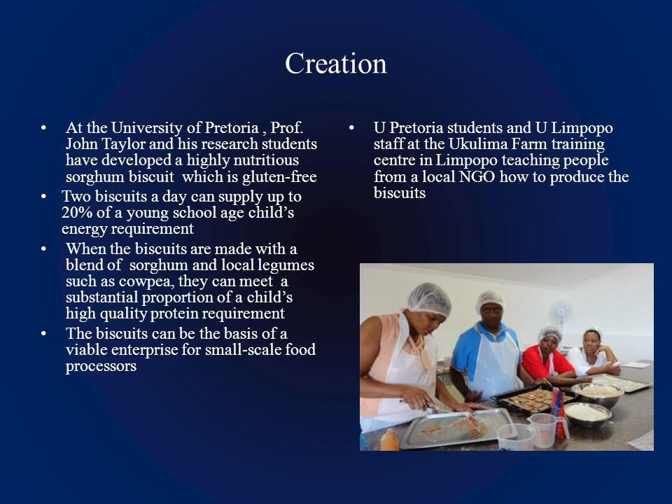 Creation At the University of Pretoria, Prof.